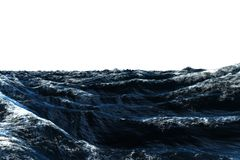 Dark blue rough stormy ocean Royalty Free Stock Photo