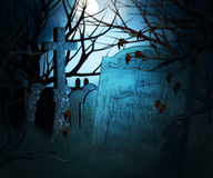 Dark Graveyard Background Royalty Free Stock Photography