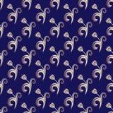 Dark blue seamless floral pattern Royalty Free Stock Image