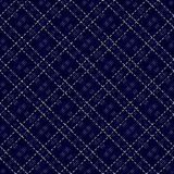 Dark blue seamless mesh pattern Stock Image