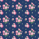 Dark blue seamless pattern Stock Photos