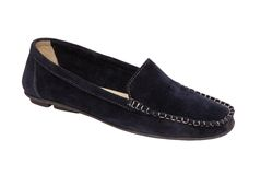 Dark blue shammy moccasin Royalty Free Stock Photos