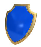 Dark blue shield Stock Photo