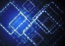 Dark blue shiny technology design Stock Images