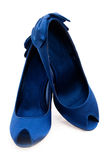 Dark blue shoes Royalty Free Stock Images