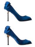 Dark blue shoes. Stock Image