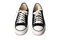 Dark blue shoes isolated on white background Stock Image