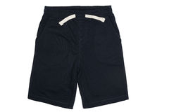 Dark blue shorts isolated on white Stock Photo