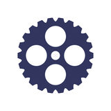 Dark blue silhouette gear wheel icon Royalty Free Stock Images