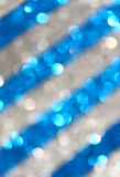 Dark blue and silver abstract background, blue bokeh abstract lights . stripes pattern. Royalty Free Stock Image