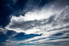 Dark blue skies Royalty Free Stock Photos