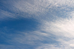 The dark blue sky. And white clouds Stock Image