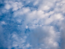 Dark blue sky with cloud. Stock Images