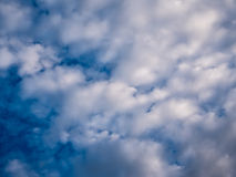 Dark blue sky with cloud. Royalty Free Stock Image