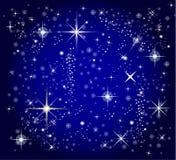 Dark blue sky and star background. A illustration of a dark blue sky and star background Stock Photo