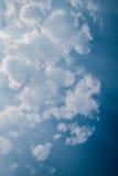 Dark blue sky and white cloud Stock Image