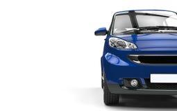 Dark Blue Small Car Stock Image