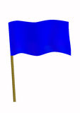 Dark blue small flag Royalty Free Stock Photo