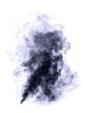 Dark blue smoke. Stock Photo