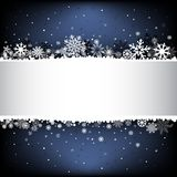Dark blue snow mesh background with textarea Stock Image