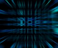 Dark blue space. Abstract dark blue space full of cubes Royalty Free Stock Photo