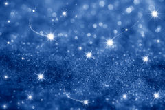 Dark blue stars and glitter sparkles background. Super macro shot, shallow DOF