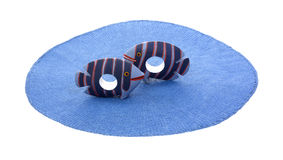 Dark Blue Striped Fish Napkin Holders Royalty Free Stock Images