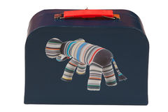 Dark blue suitcase Stock Image