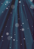 Dark blue sunburst and snow background Royalty Free Stock Images