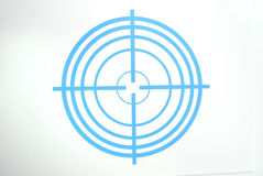 Dark blue target Stock Photo