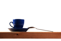 Dark blue tea cup Royalty Free Stock Images