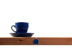 Dark blue tea cup Stock Image