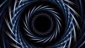 Dark blue tech circle shapes motion design stock video
