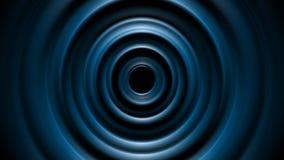 Dark blue tech smooth circles motion design stock video footage