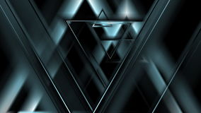 Dark blue tech triangles motion design stock video