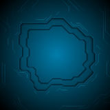 Dark blue technology abstract background with circuit board. Dark blue technology abstract corporate background with circuit board. Vector design royalty free illustration