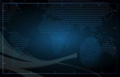 Dark blue technology background. Illustration design Stock Image