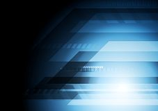 Dark blue technology background Stock Image