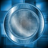 Dark blue technology design. Grunge style. Vector. Abstract hi-tech background with grunge style. Eps 10 vector design Royalty Free Stock Images