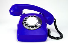 Dark blue telephone Royalty Free Stock Photo