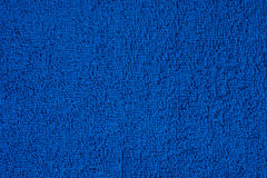 Dark blue terry towel Royalty Free Stock Photo