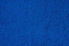Dark blue terry towel Royalty Free Stock Photo