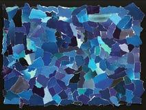 Dark blue texture of torn paper stock image