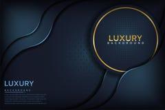 Dark blue textured layer overlap background stock illustration