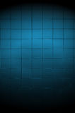 Dark Blue Tiled Wall with Spotlight Royalty Free Stock Images