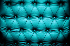 Dark blue turquoise leather texture with buttoned pattern Stock Image