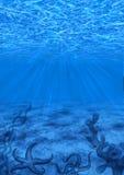 Dark Blue Underwater Background Stock Images