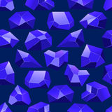 Dark blue vector crystals seamless pattern. Background wallpaper illustration with stone stock illustration