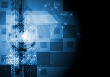 Dark blue vector hi-tech design. Abstract dark technology background. Vector illustration eps 10 Royalty Free Stock Image