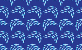 Dark blue vector seamless texture with drops Stock Photos